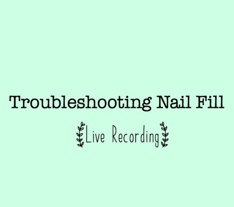 Troubleshooting Fill Class