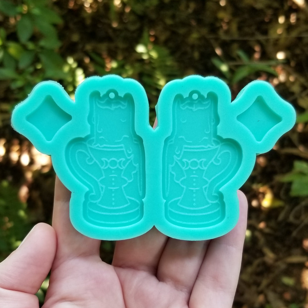 Witch's Candle Earring Mold