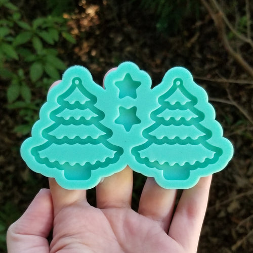 Christmas Tree Earring Mold