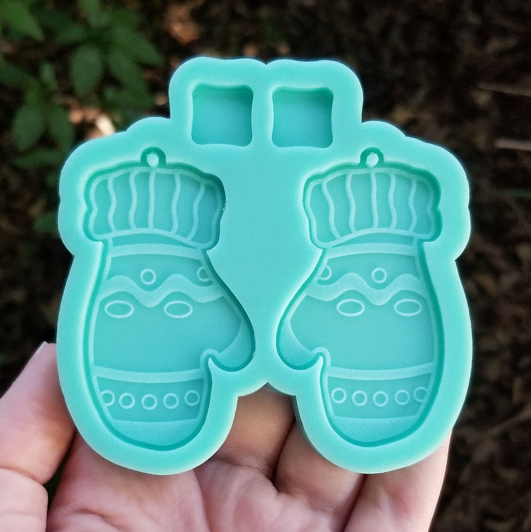 Mittens Earring Mold