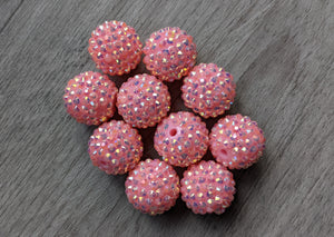 20mm Large Pink Beads