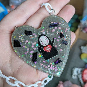 No Face Resin Necklace