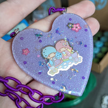 Load image into Gallery viewer, Little Twin Stars Resin Necklace