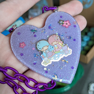 Little Twin Stars Resin Necklace