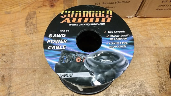 Sundown Audio 8 ga OFC wire spool