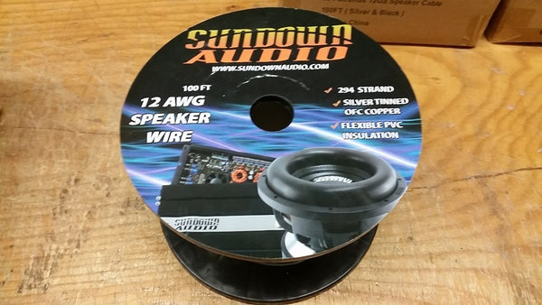 Sundown Audio 12 ga OFC speaker wire spool