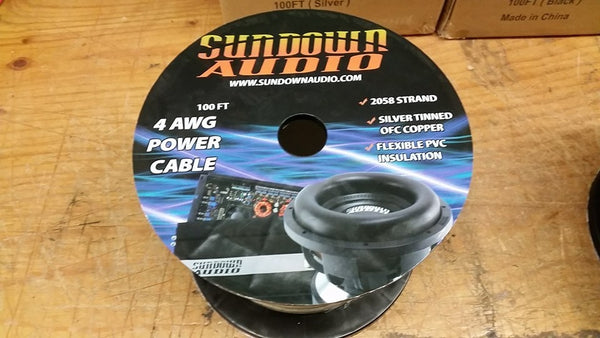 Sundown Audio 4 ga OFC wire spool