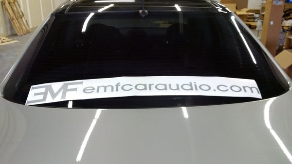 EMF Audio windshield sticker