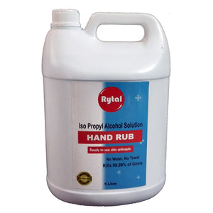 Rytal Hand Sanitizer Alcohol Based 5 Liters