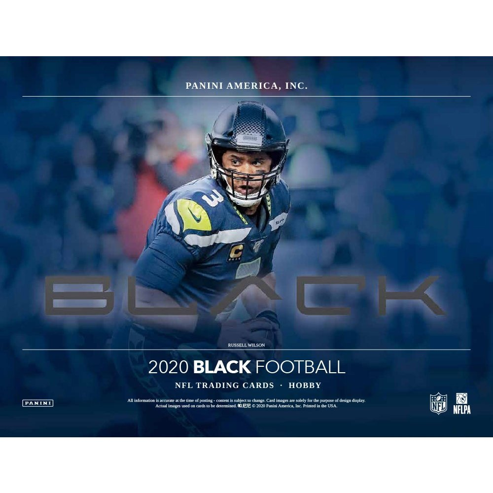 2020 Panini Black Football 6 box half case break pick your team #4