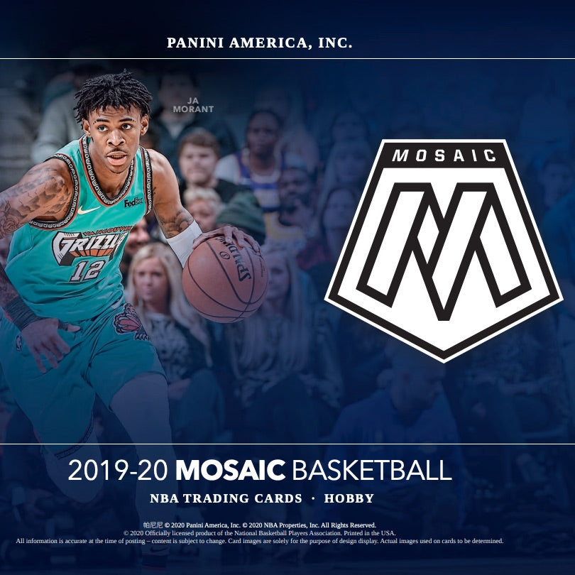 2019-20 Panini Mosaic Hobby Basketball Box Random Tiered Team 1 box break #9