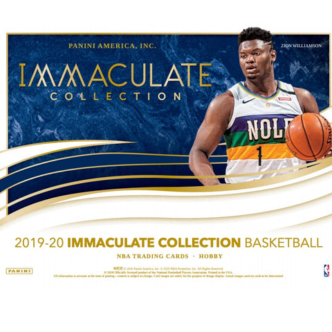 2019-20 Panini Immaculate Collection Basketball Personal 1 Hobby Box Break