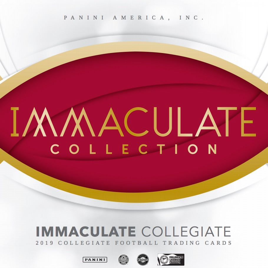 2019 Panini Immaculate Collection Collegiate Football 5 box full case break #2