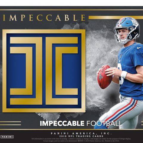 2019 Panini Impeccable Football 3 box full case break #2