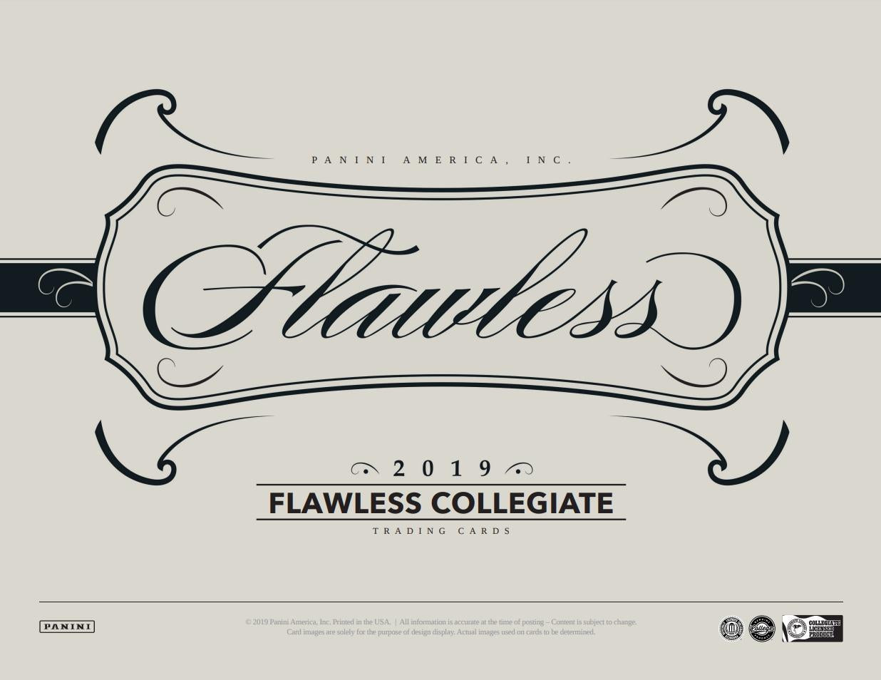 2019  Flawless Collegiate Football 1 box 1/2 case break #1
