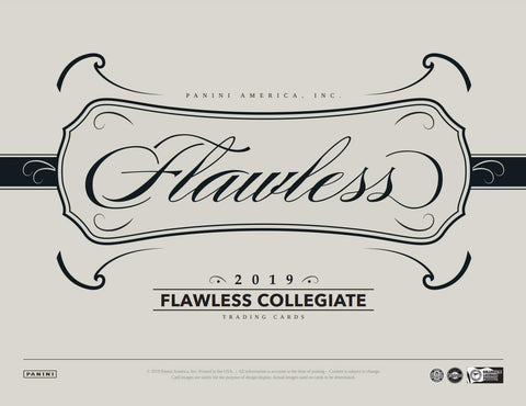 2019  Flawless Collegiate Football 1 box 1/2 case break #2