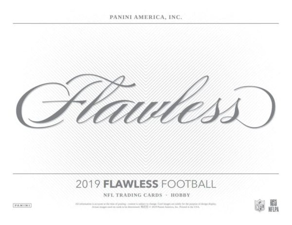 2019  Flawless Football 1 box 1/2 case break #1
