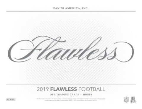 2019  Flawless Football 1 box 1/2 case break #2