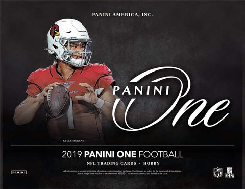 2019  Panini One Football 10 box 1/2 case break #2