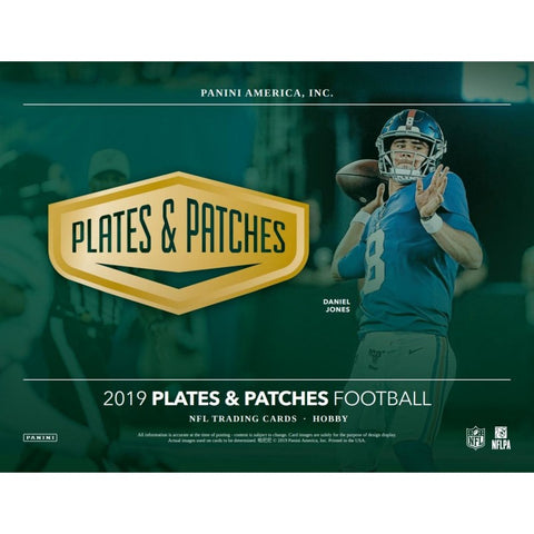 2019  Plates & Patches Football 12 box full case break #4