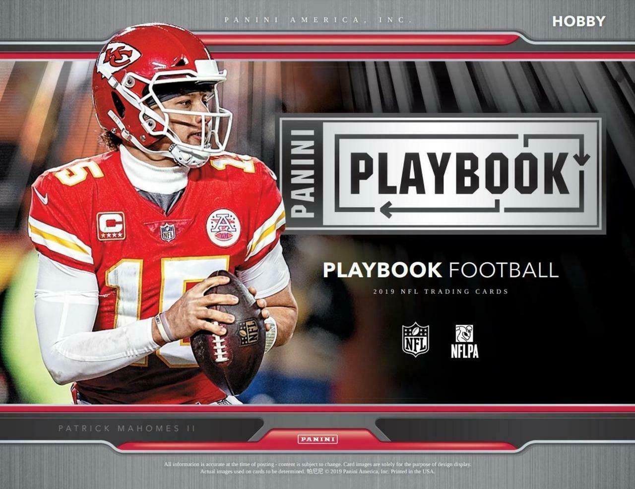 2019  Panini Playbook Football 8 box full inner case break #4