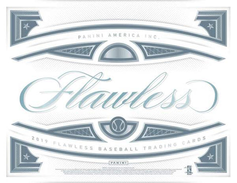 2019 Panini Flawless Baseball 1 box half case break pick your team #13