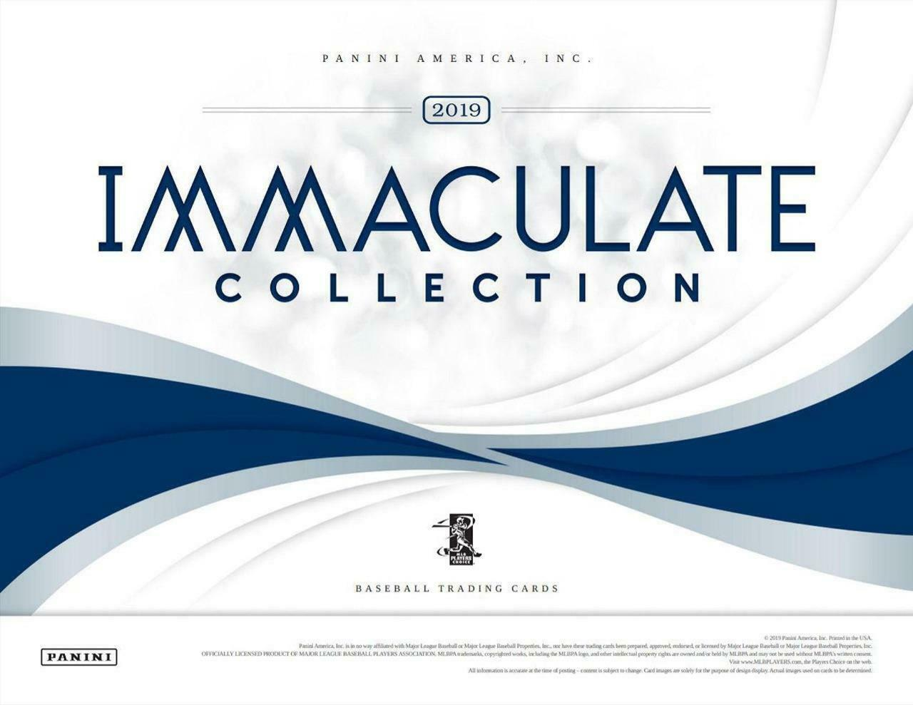 2019 Panini Immaculate Baseball 4 box 1/2 case pick your team #6