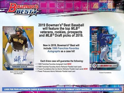 2019 Bowman Best Baseball 8 box full case break pick your team #1