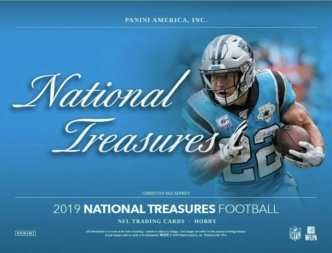 2019  National Treasures Football 2 box 1/2 case break #2