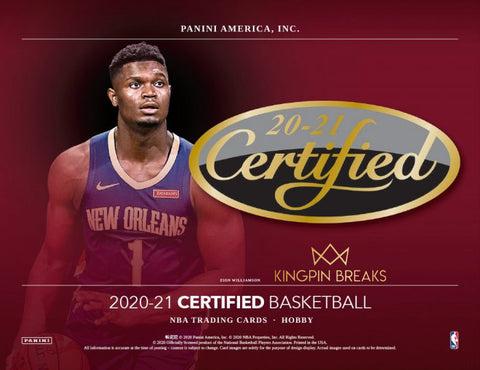 2020-21 Panini Certified Basketball Hobby Random Team 2 Box Break #4