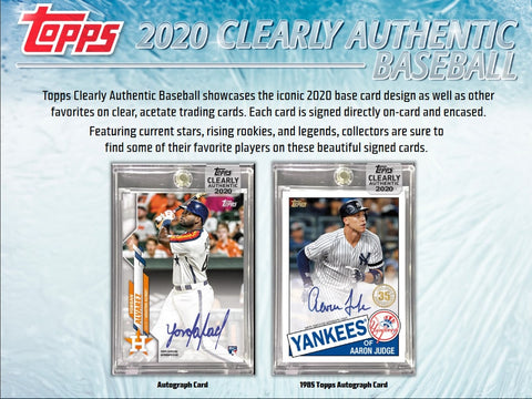 2020 Topps Clearly Authentic 20 box full case break pick your team #1