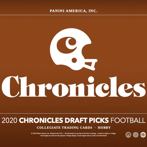 2020 Panini Chronicles Draft Picks Football 8 box 1/2 case break #2