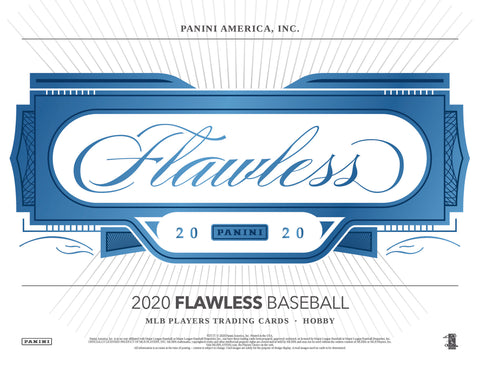 2020 Panini Flawless Baseball Random Tiered Team 1 box half case break #29