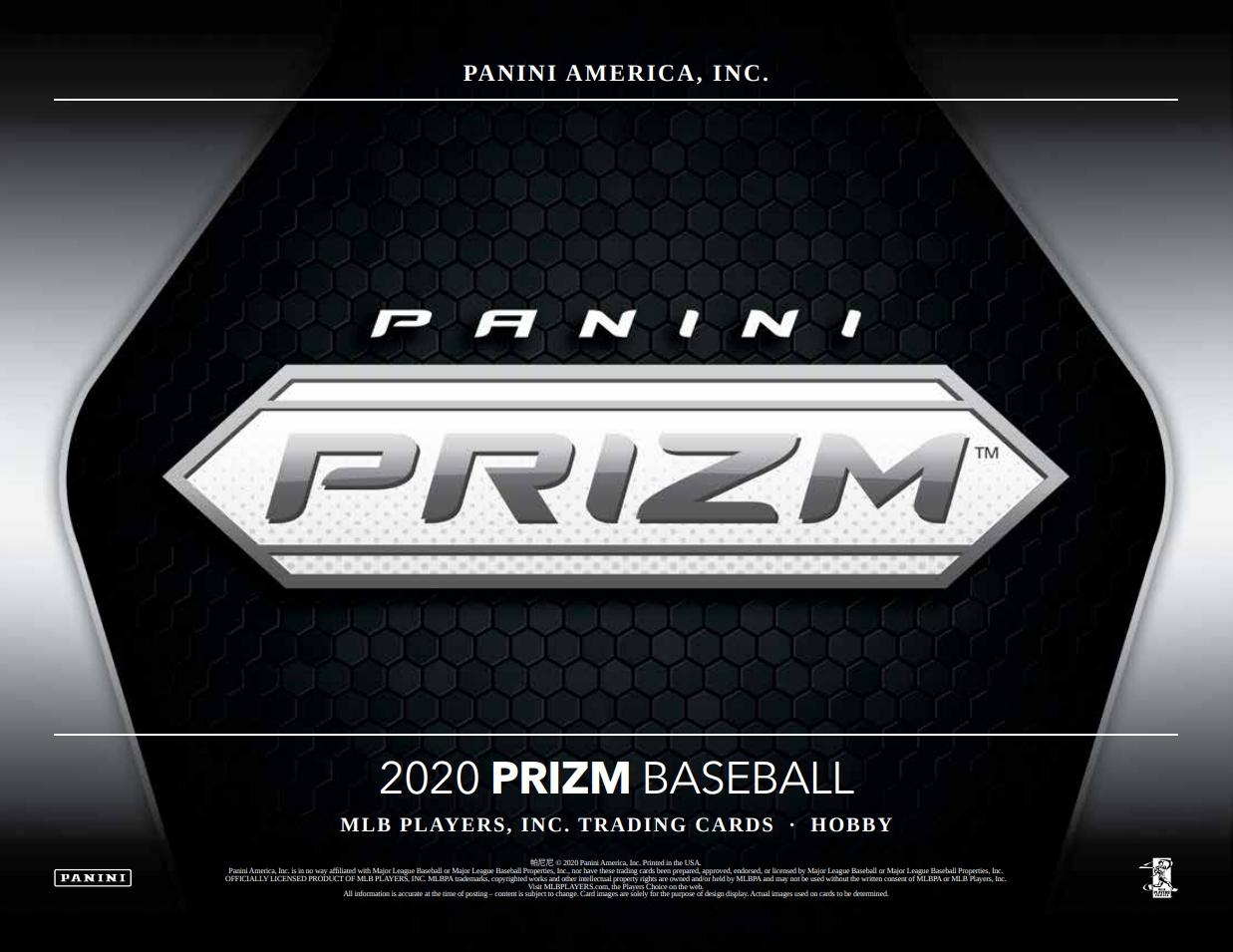 2020 Panini Prizm Baseball 6 box half case break pick your team #8