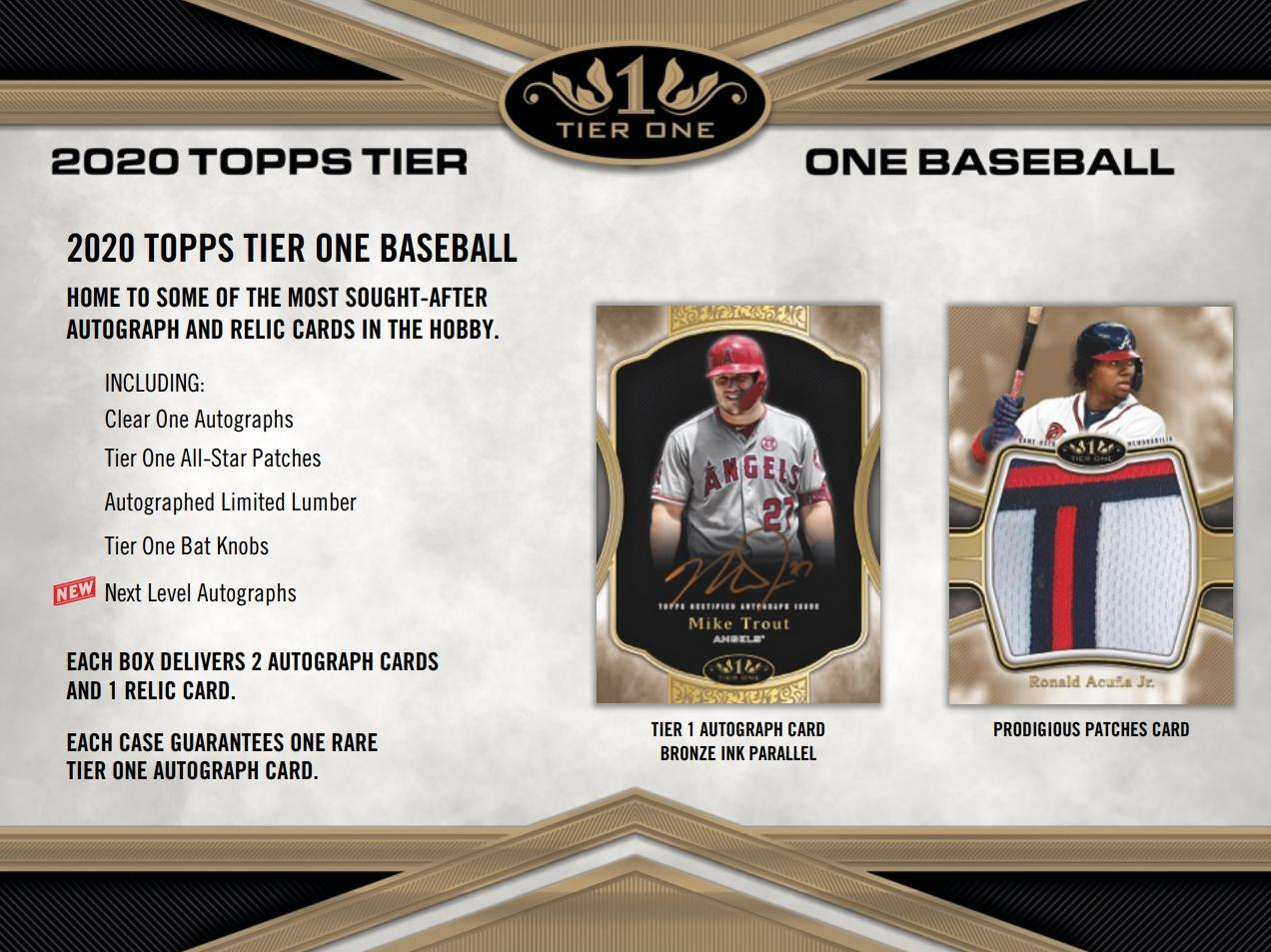 2020 Topps Tier One 6 box half case break pick your team #5