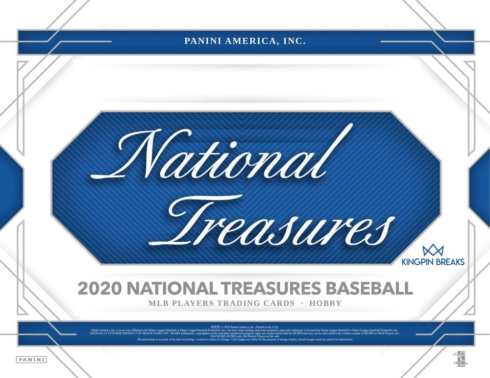 2020 Panini National Treasures Baseball Random Tiered Team 1 Box Break #17
