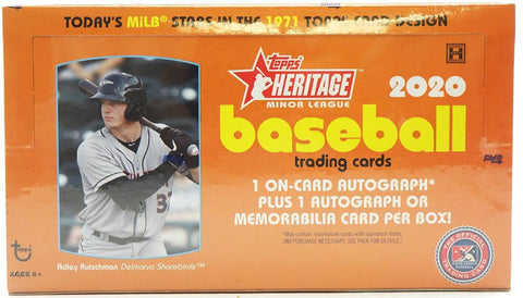2020 Topps Heritage Minor League Baseball Cards 1 Sealed Box