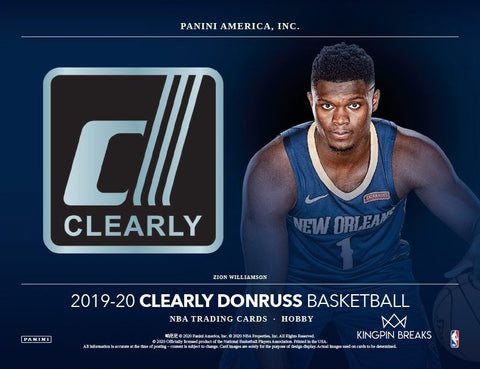 2019-20 Clearly Donruss Basketball Hobby Sealed Box (Shipped)