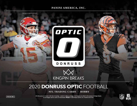 2020 Donruss Optic Football Hobby Random Tiered Team 1 Box Break #38