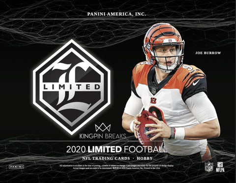 2020 Panini Limited Football Hobby 7 Box 1/2 Case Pick Your Team Break #2