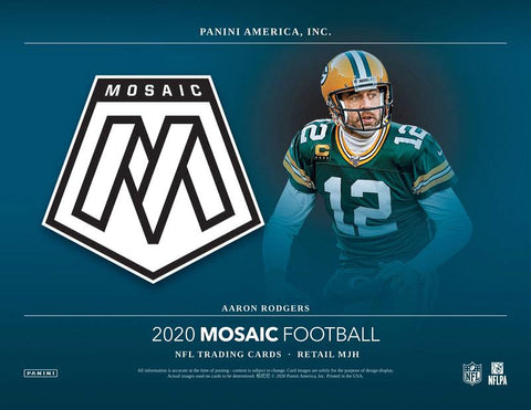 2020 Mosaic No Huddle Football Random Tiered Team 1 Box Break #85