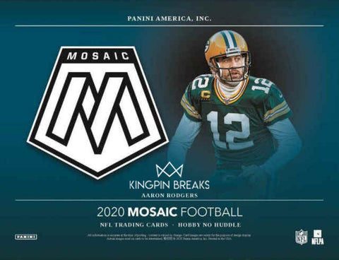 2020 Mosaic No Huddle Football Random Tiered Team 1 Box Break #79