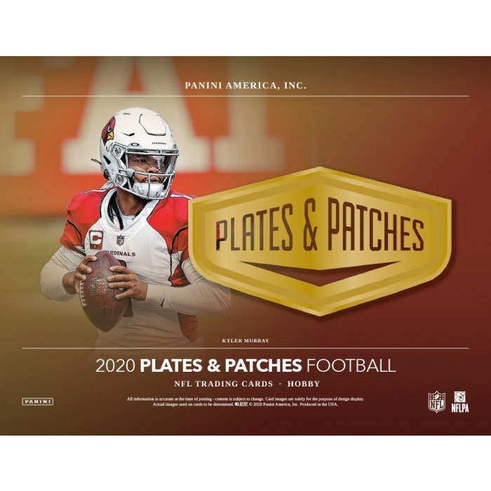 2020 Panini Plates & Patches Football Hobby 6 Box 1/2 Case Pick Your Team Break #2