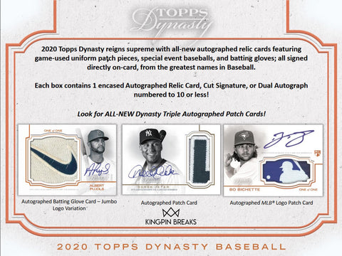 Topps Dynasty Baseball Random Division 1 Box Break #6