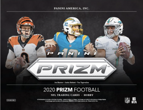 2020 Panini Prizm Football Hobby Box 3 Box Pick Your Team #8