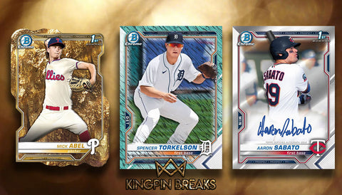 2021 Bowman Baseball HTA Jumbo Hobby 2 Box Random Tiered Team Break #13