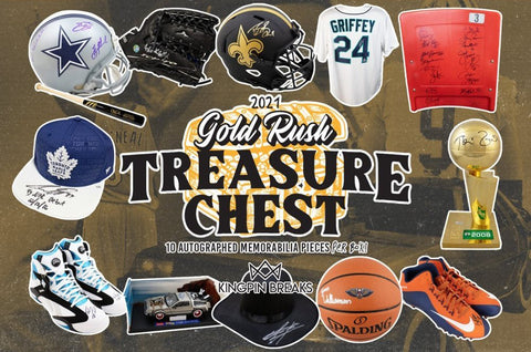 2021 Gold Rush Treasure Chest Autographed Memorabilia Case Random Hit Break #1