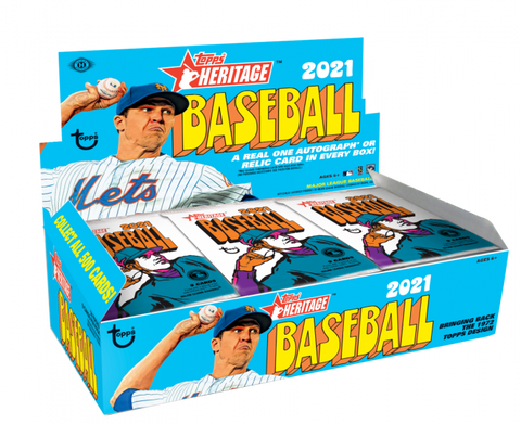 2021 Topps Heritage Baseball Hobby 1 Sealed Box (Shipped)