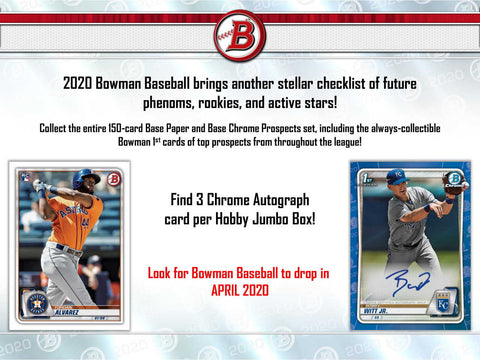 2020 Bowman Jumbo Baseball 2 box 1/4 case break pick your team #6