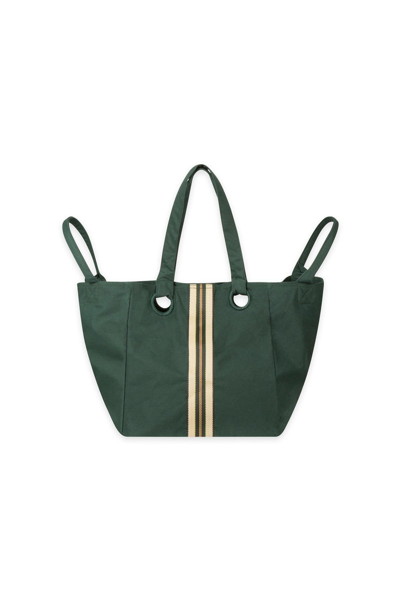 Mare di Latte - CUBE BAG SMALL NYLON STRIPES FOREST